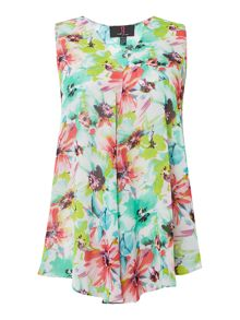 Simon Jeffrey Floral Sleeveless Blouse