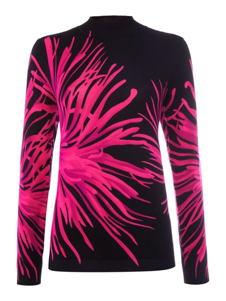Simon Jeffrey Printed Turtle Neck Jumper