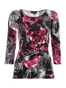 Simon Jeffrey Knot front printed top