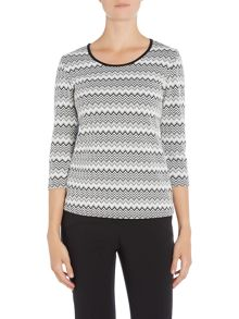 Simon Jeffrey Zig Zag textured top