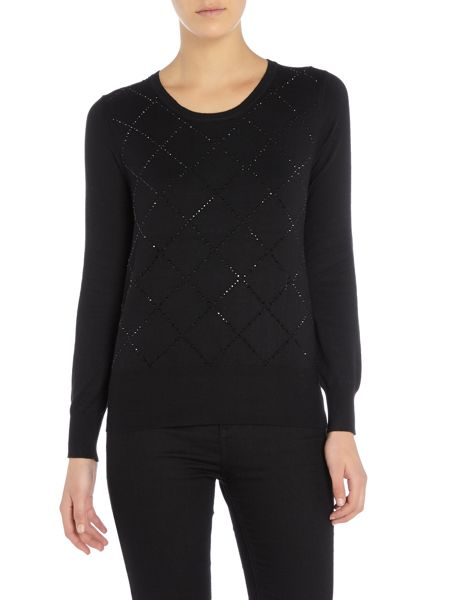 Simon Jeffrey Embellished knitted jumper