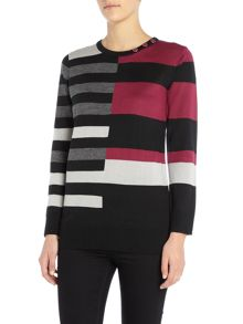 Simon Jeffrey Colour Block Jumper