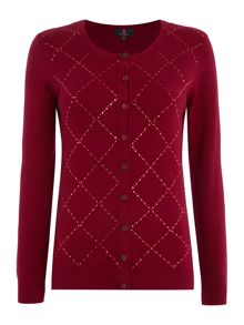 Simon Jeffrey Embellished knitted cardigan
