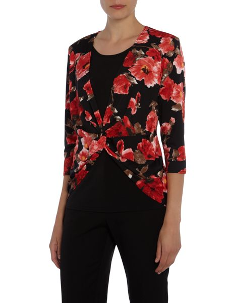 Simon Jeffrey Double layered twist front top