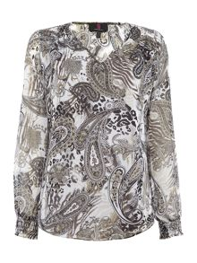 Simon Jeffrey V Neck Blouse