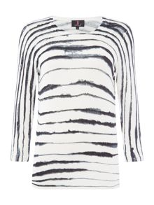 Simon Jeffrey Striped Watercolour Effect Jumper