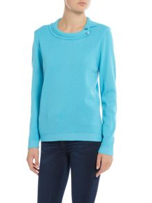 Simon Jeffrey Split Collar Jumper