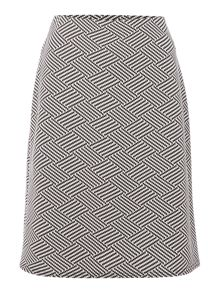 Simon Jeffrey A-Line Monochrome Skirt