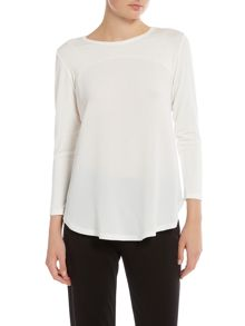 Simon Jeffrey Curved Hem Top