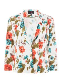 Simon Jeffrey Floral Print Jacket