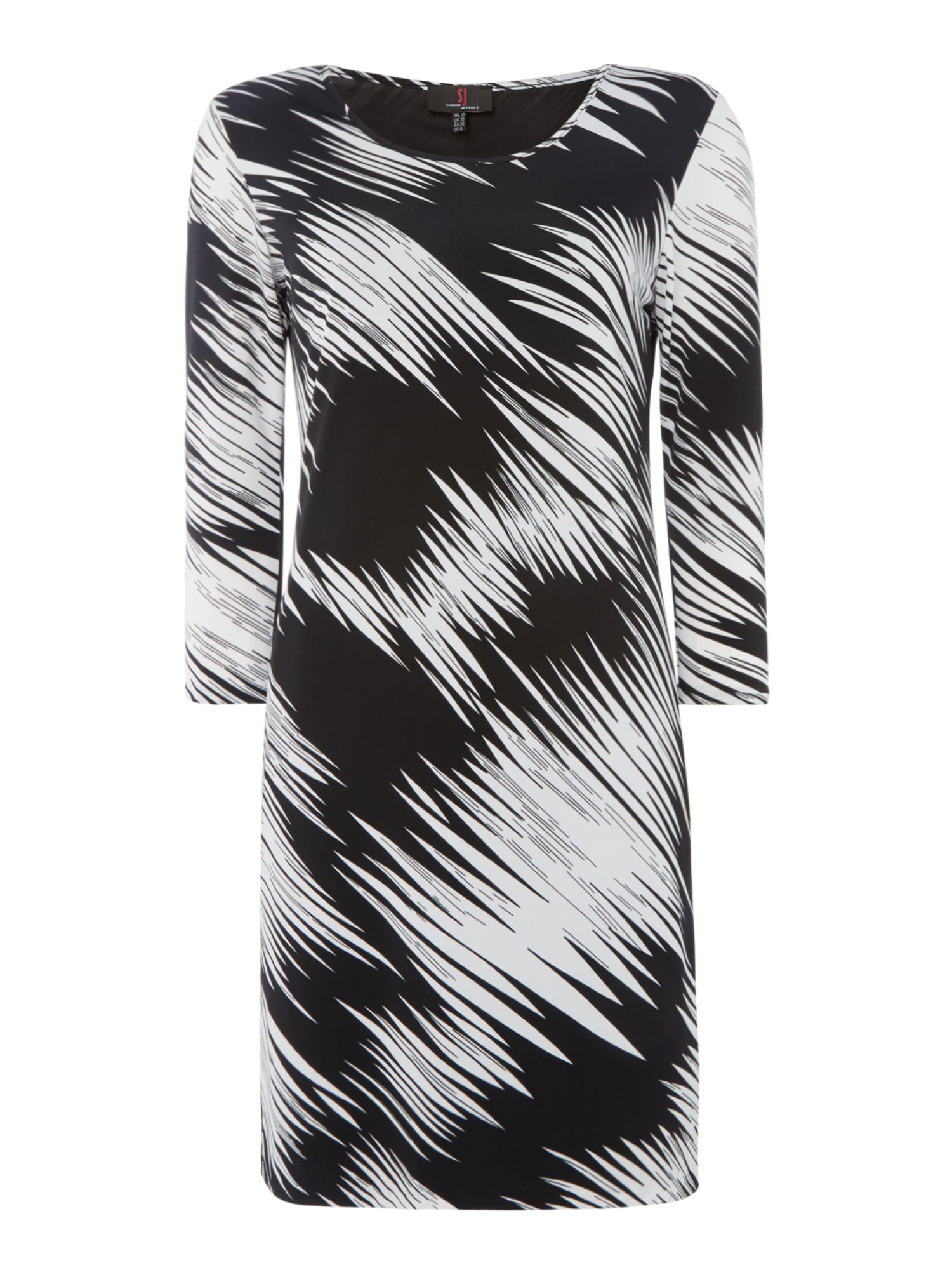 Simon Jeffrey Printed Shift Dress, Black