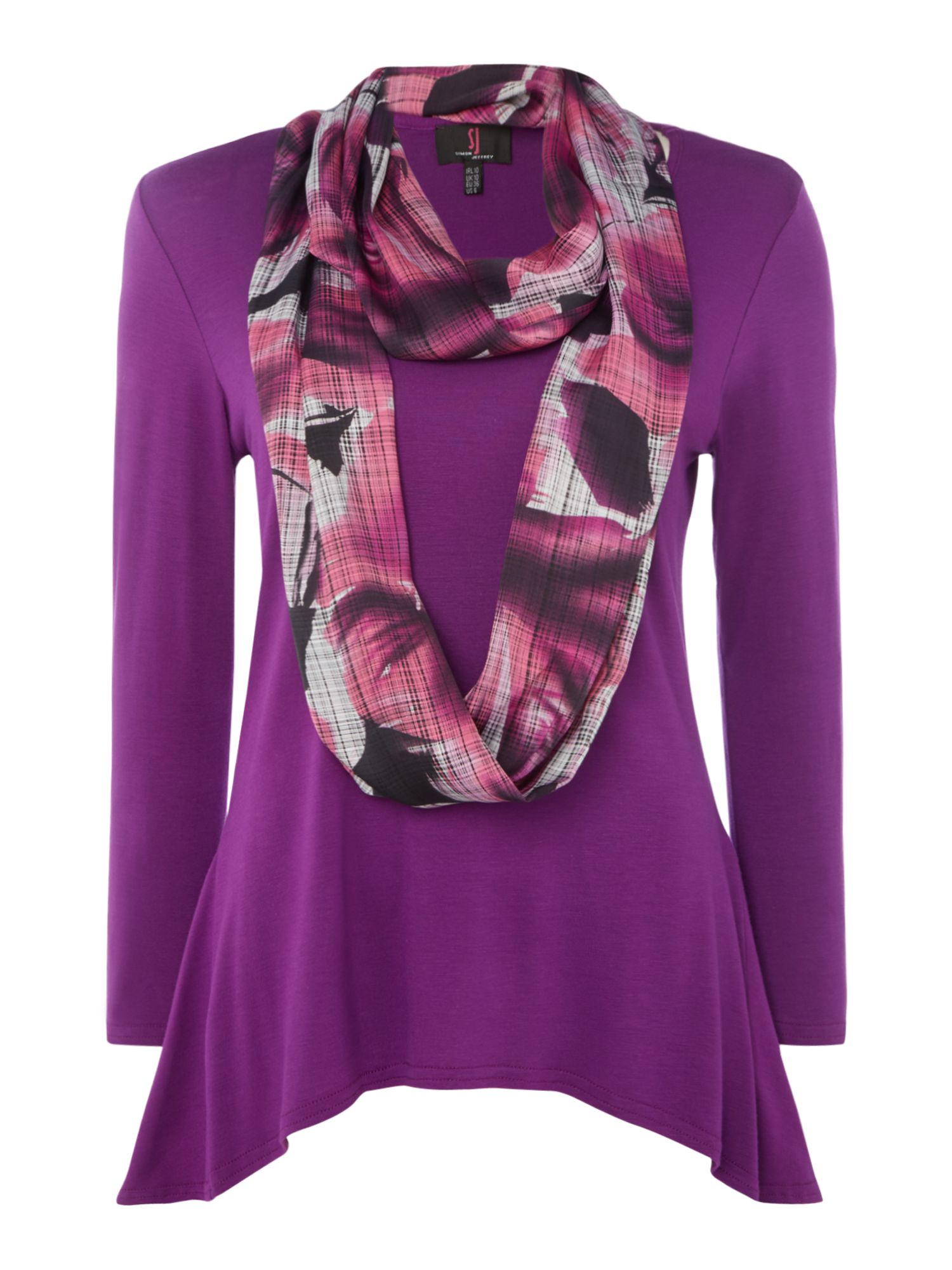 Simon Jeffrey Scarf Top, Purple