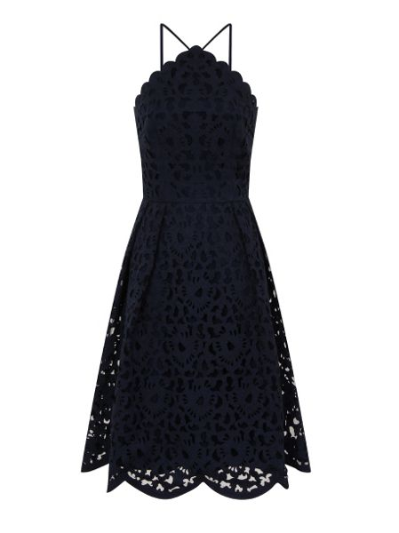 Chi Chi London Laser cut midi dress
