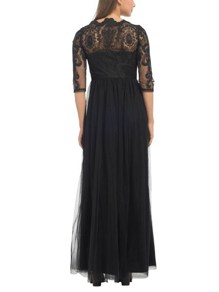 Chi Chi London Embroidered Lace Maxi Dress