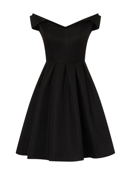 Chi Chi London Fold Over Bardot Midi Dress