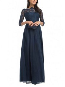 Chi Chi London Embroidered Maxi Dress