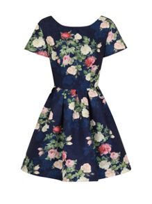 Chi Chi London Floral print mini dress