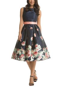 Chi Chi London Digital floral block print midi dress