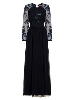 Sequinned Maxi Dress