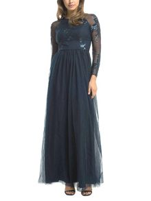 Chi Chi London Sequinned Maxi Dress
