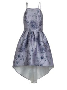 Chi Chi London Digital Floral Print Dip Hem Dress