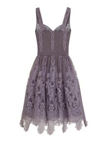 Chi Chi London Baroque Style Skater Dress