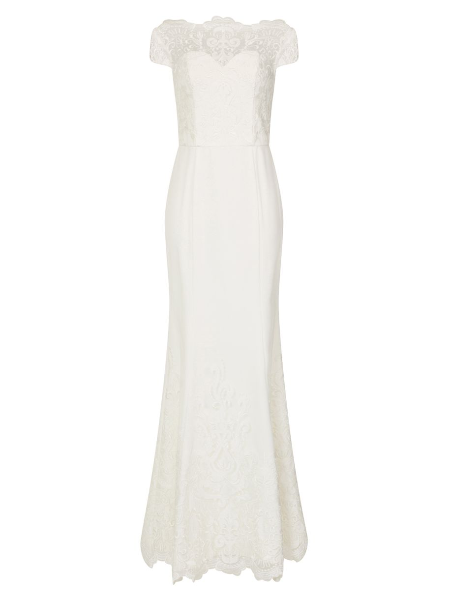 Chi Chi London Embroidered Maxi Dress, White