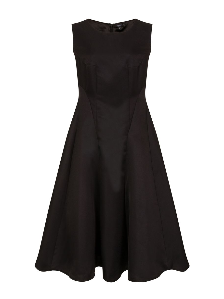 Chi Chi London Panelled Midi Dress, Black