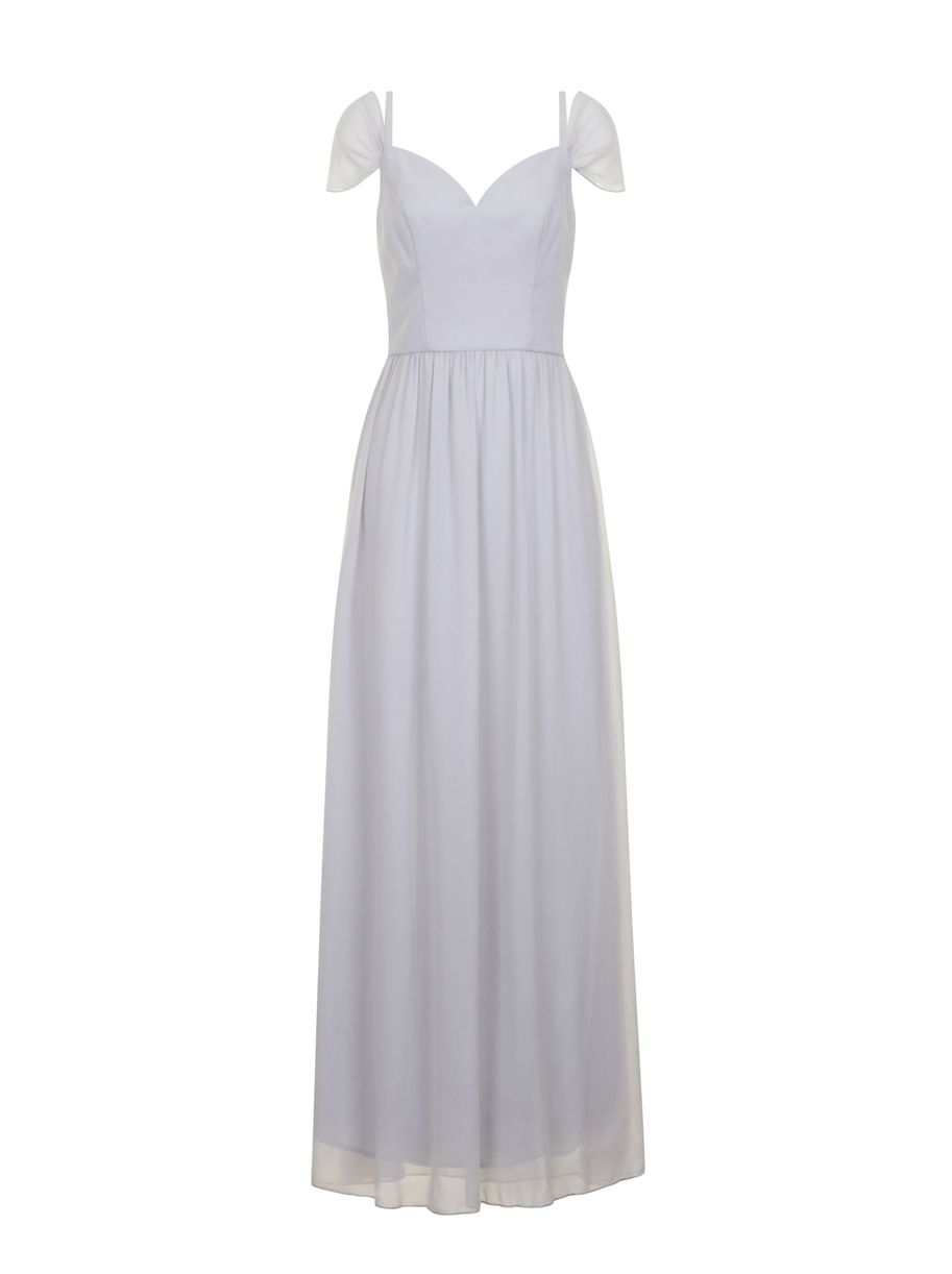 Chi Chi London Bardot Maxi Dress, Grey