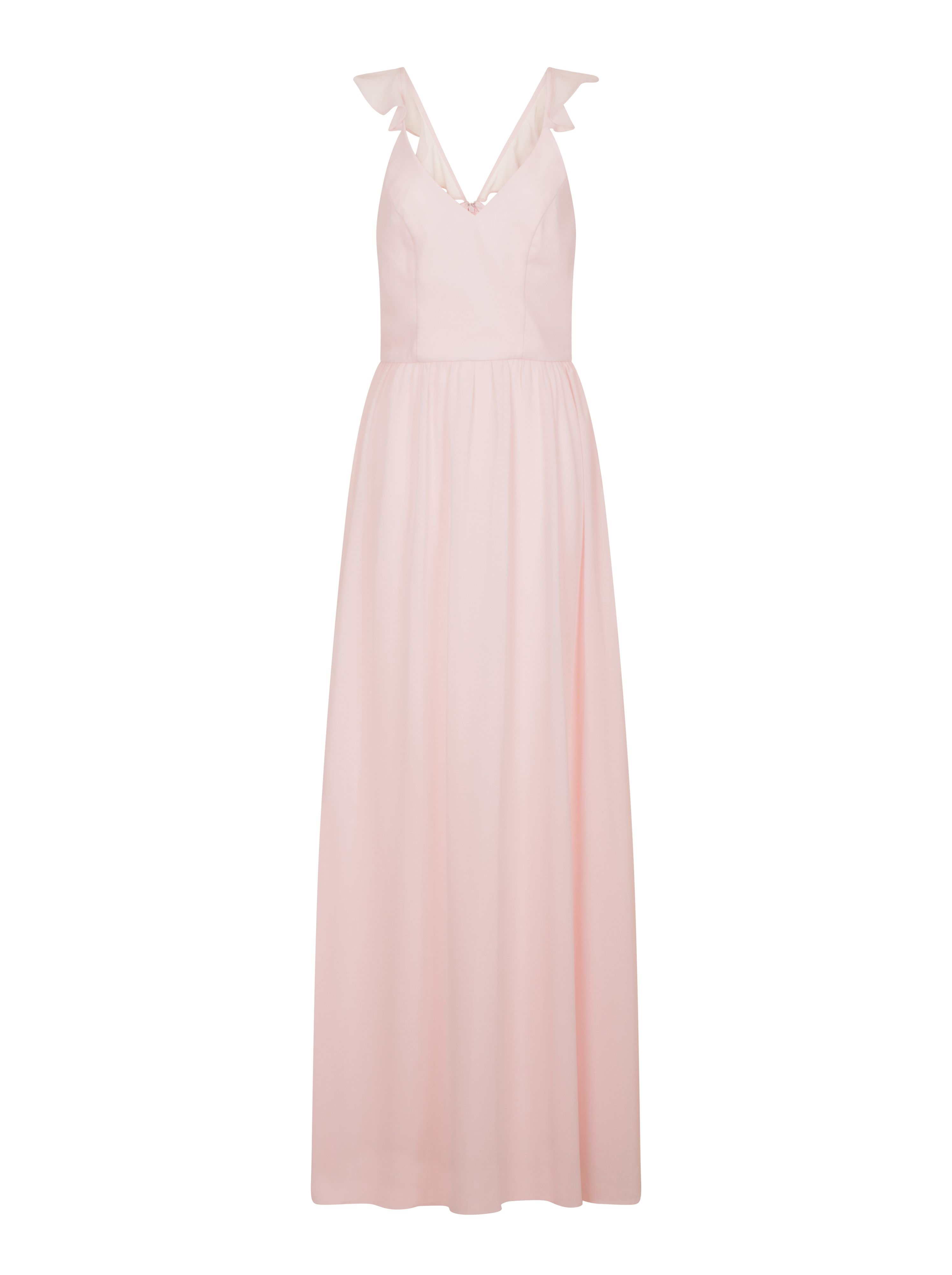 Chi Chi London Ruffle Strap Maxi Dress, Pink