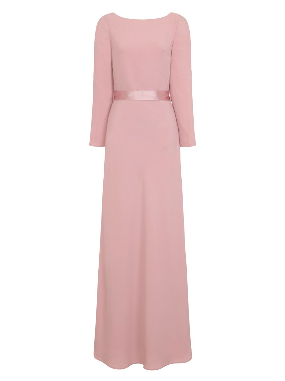 Chi Chi London Plain Maxi Dress, Pink