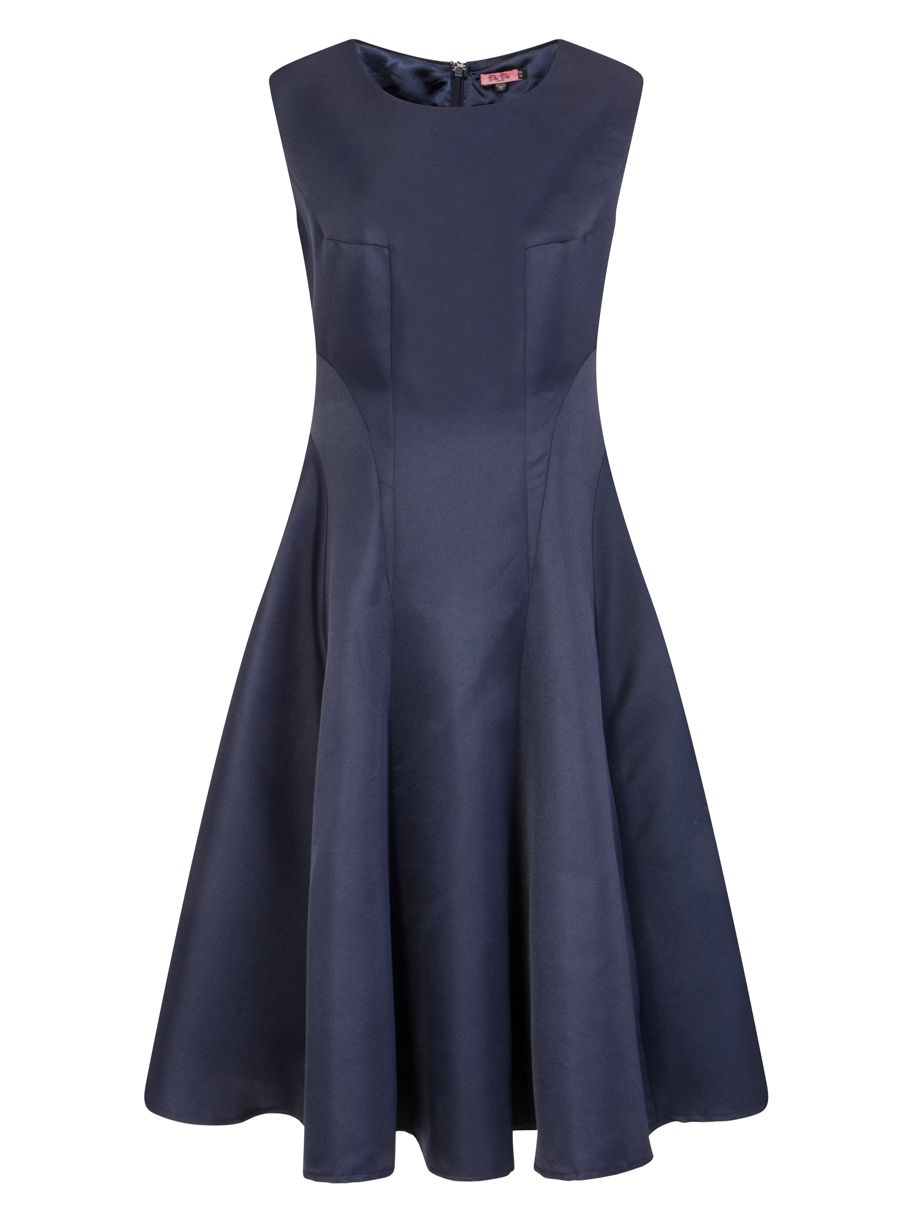 Chi Chi London Panelled Midi Dress, Blue