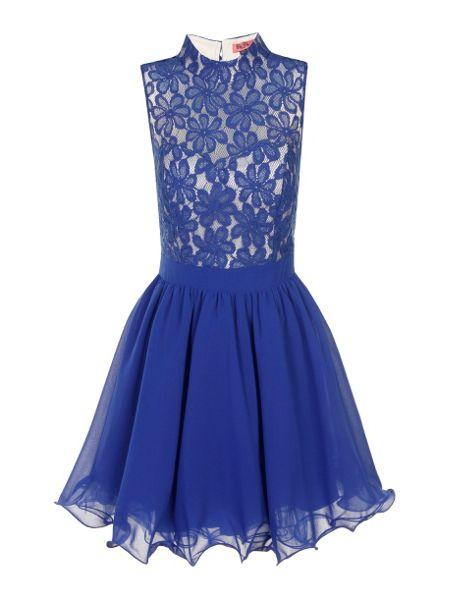 Chi Chi London Lace Fit & Flare Skater Dress