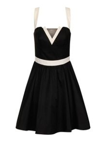 Contrast Party Dress