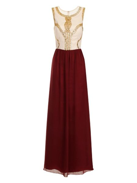 Chi Chi London Beaded contrast maxi dress