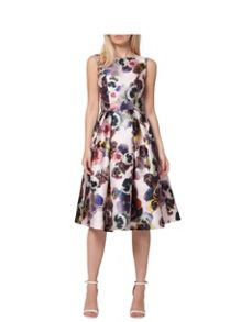 Floral Digital Print Midi Dress
