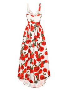 Chi Chi London Printed Dip Hem Maxi Dress