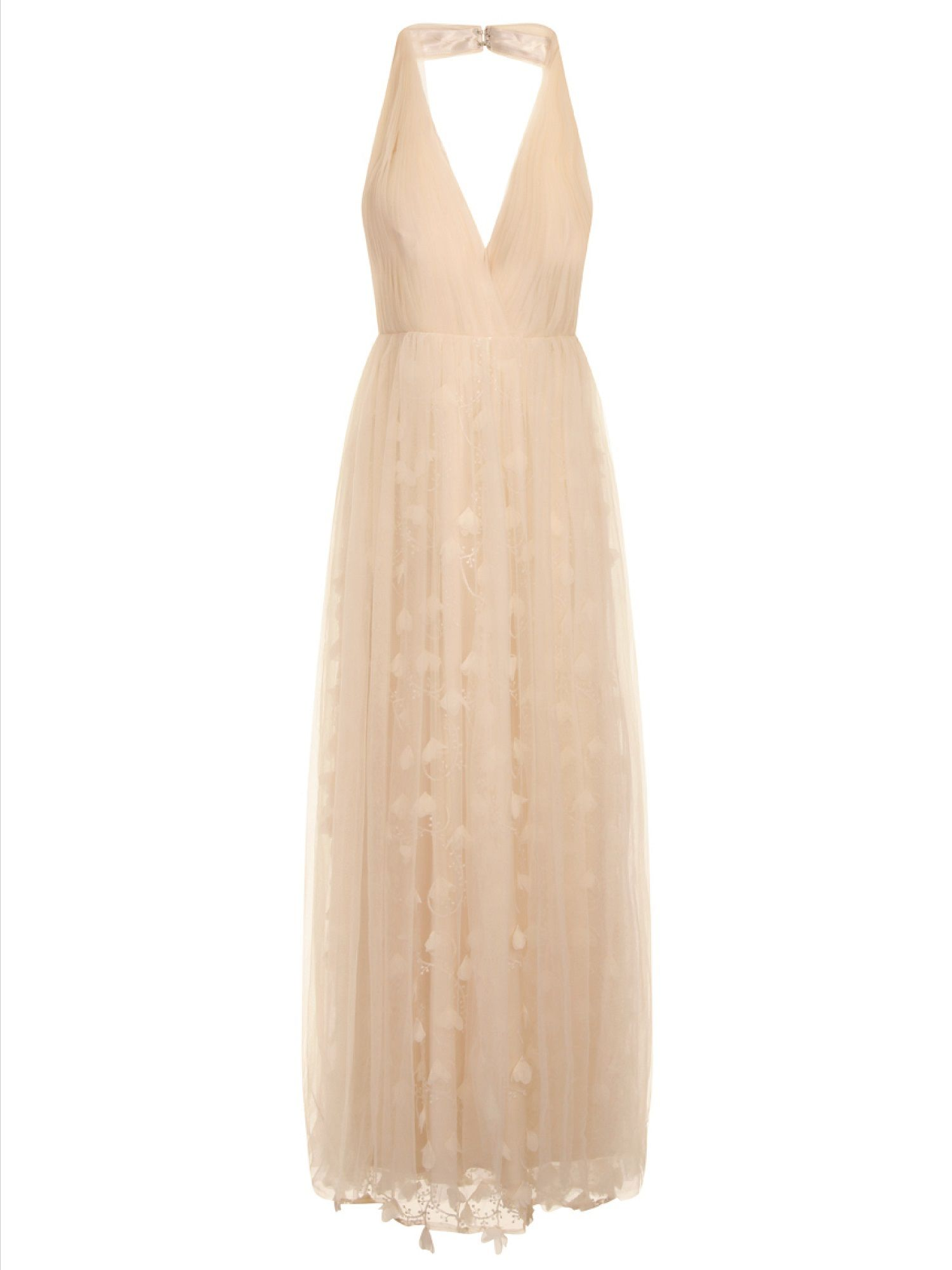 Chi Chi London 3D floral maxi dress Cream £84.99 AT vintagedancer.com