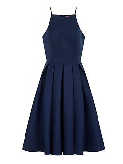 Strappy Fit & Flare Prom Dress
