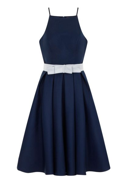 Chi Chi London Strappy fit & flare prom dress