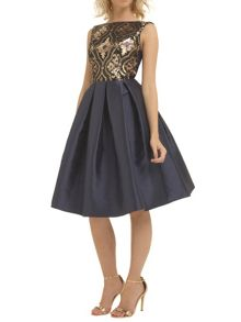 Chi Chi London Regal sequin skater dress