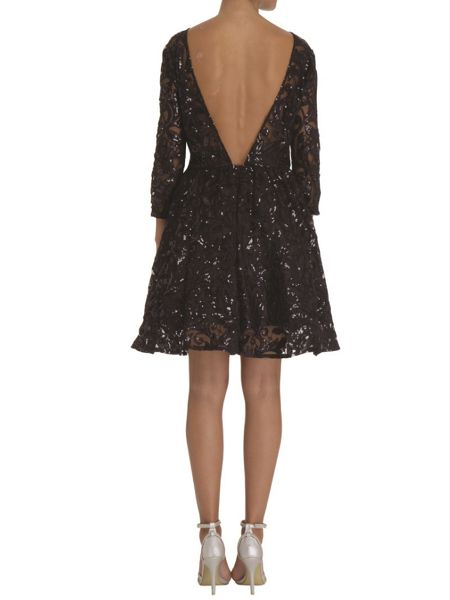 Chi Chi London Sequin lace skater party dress