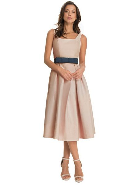 Chi Chi London Midi Dress With Bow Belt