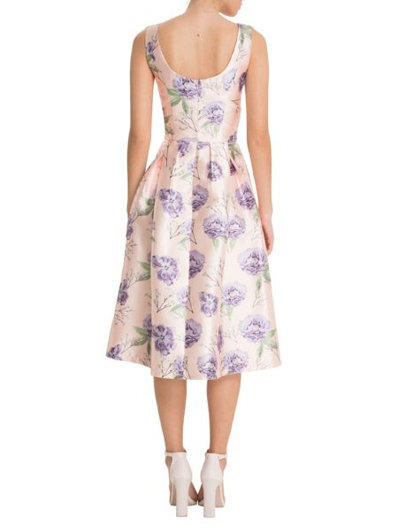 Chi Chi London Floral Digital Print Midi Dress