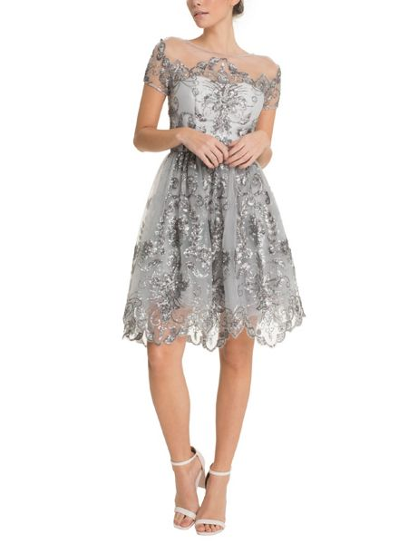 Chi Chi London Sequinned Midi Dress