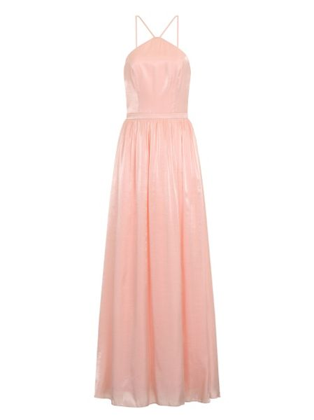 Chi Chi London Halterneck Shimmer Maxi Dress