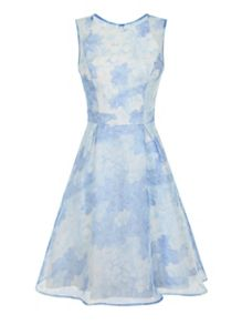 Chi Chi London Floral Print Organza Overlay Dress