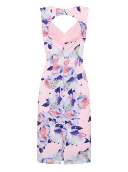 Chi Chi London Graphic Floral Print Bodycon Dress