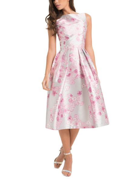 Chi Chi London Digital Floral Print Midi Dress