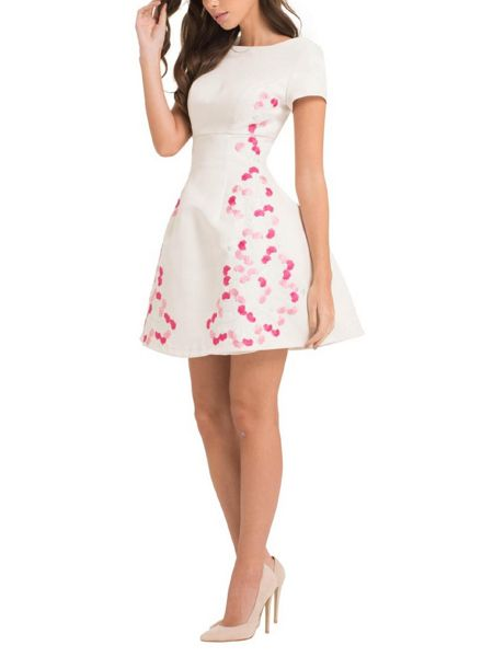 Chi Chi London Floral Embroidered Dress